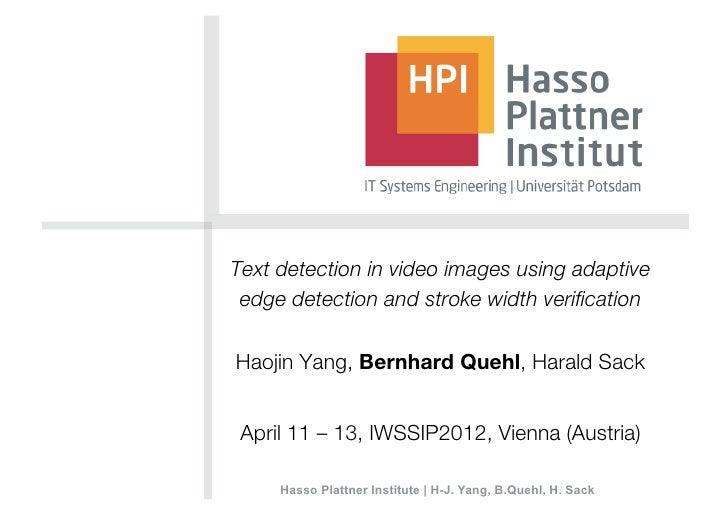 Presentation iwssip2012