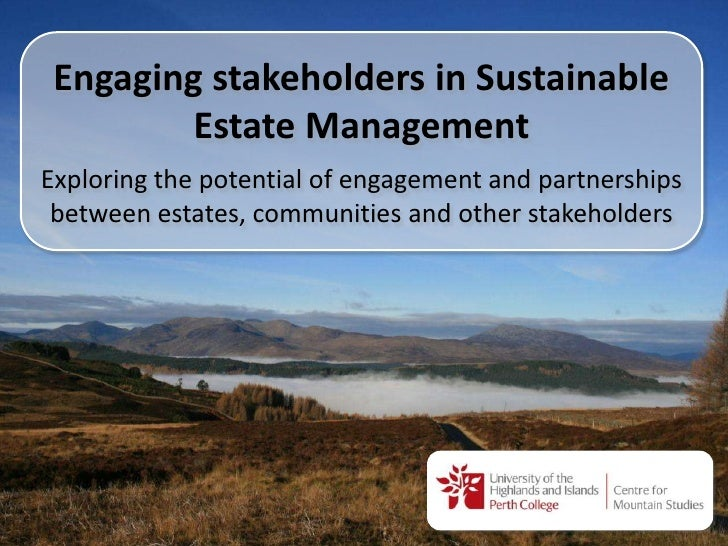 Engaging stakeholders in sustainable upland estate management