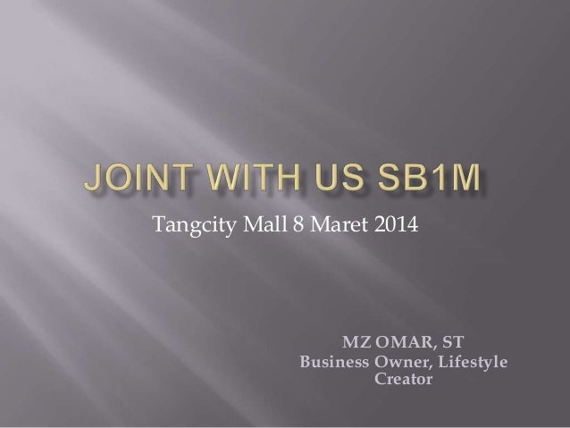 Tangcity Mall 8 Maret 2014  MZ OMAR, ST Business Owner, Lifestyle Creator