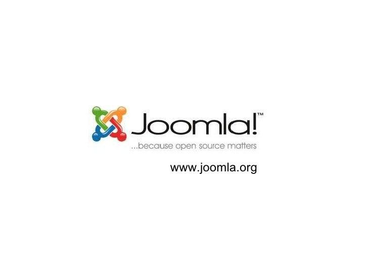 Joomla! CHASE presentation