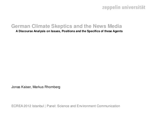 German Climate Skeptics and the News Media
