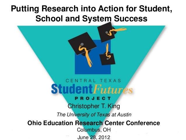 Ohio Education Research Center: Christopher King Keynote Presentation