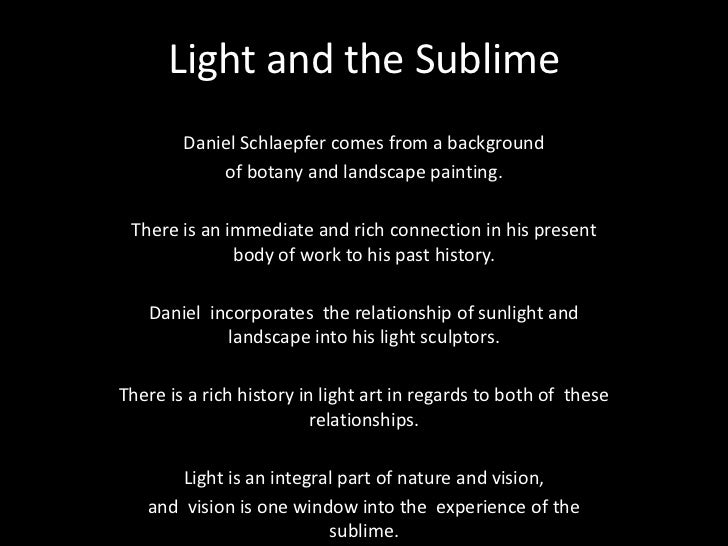 Light and the Sublime