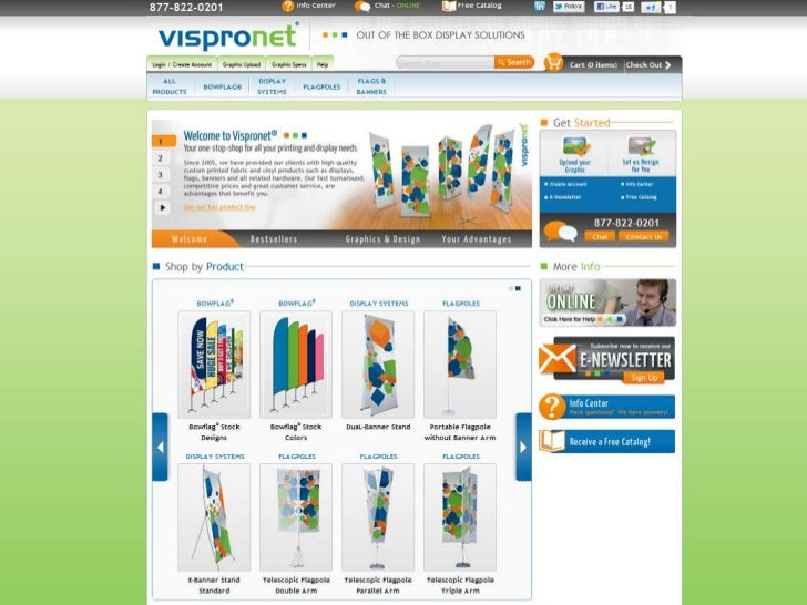 Just a few of theproducts offered at Vispronet.com