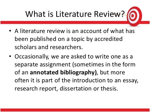Format of review of related literature