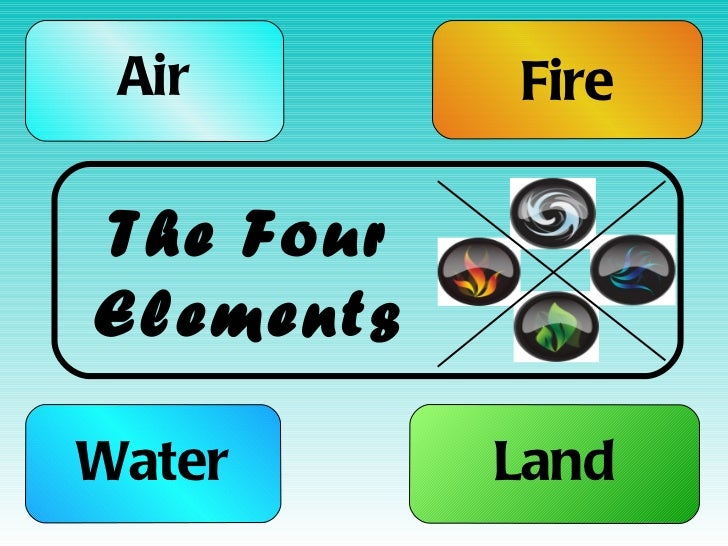 Air Water Fire Land The Four Elements