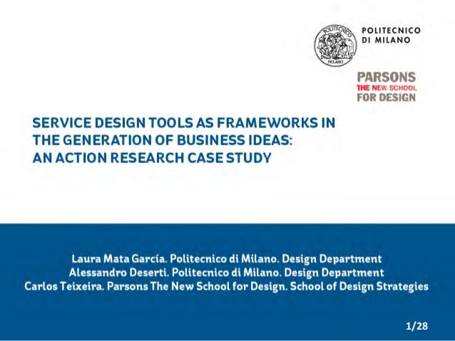 Using Service Design Tools as Frameworks to Generate Business Ideas