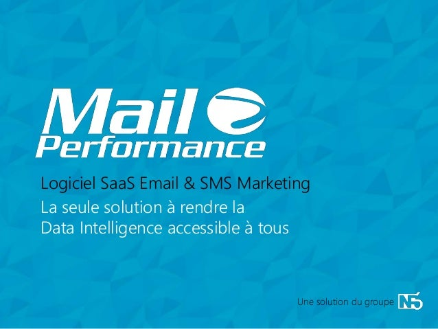 1 La seule solution à rendre la Data Intelligence accessible à tous Logiciel SaaS Email & SMS Marketing Une solution du gr...