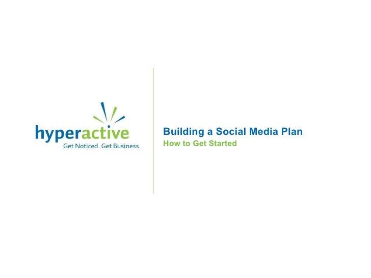 Developing a social media plan