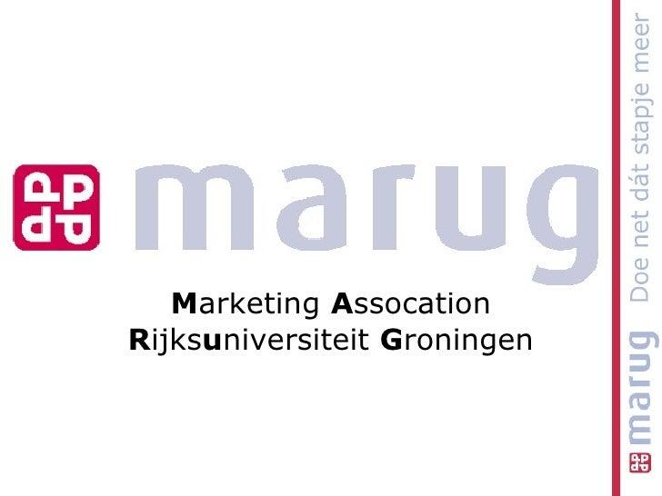 MARUG Recruitment 2010