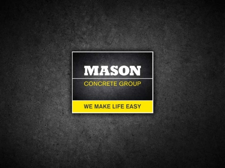 Presentation mason concrete group complete one