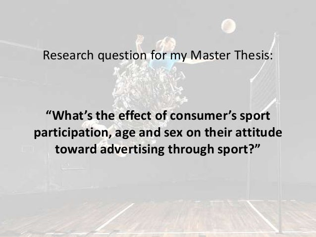 Master thesis advertising