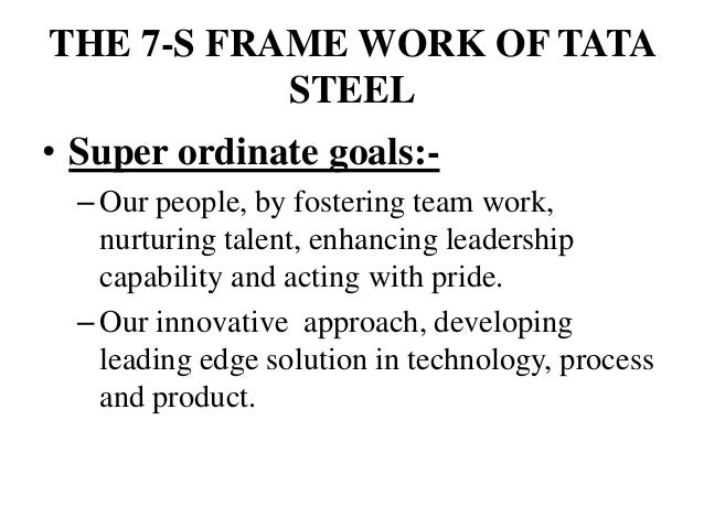 7s model of tata The 7s framework of tata steel limited: shared value of tata stee l limited: we make the difference through: our people, by fostering team work, nurturing talent, enhancing leadership.