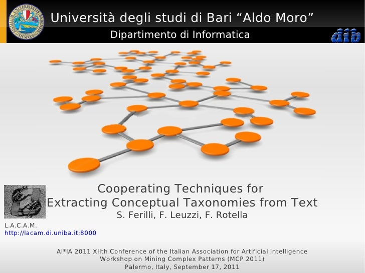 Cooperating Techniques for Extracting Conceptual Taxonomies from Text