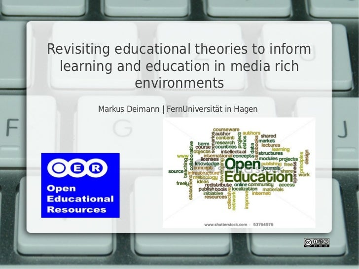 Revisiting educational theories to inform  learning and education in media rich             environments       Markus Deim...