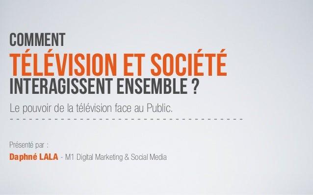 Présentation Mémoire - Impact TV/Société - Master 1 - Daphné LALA