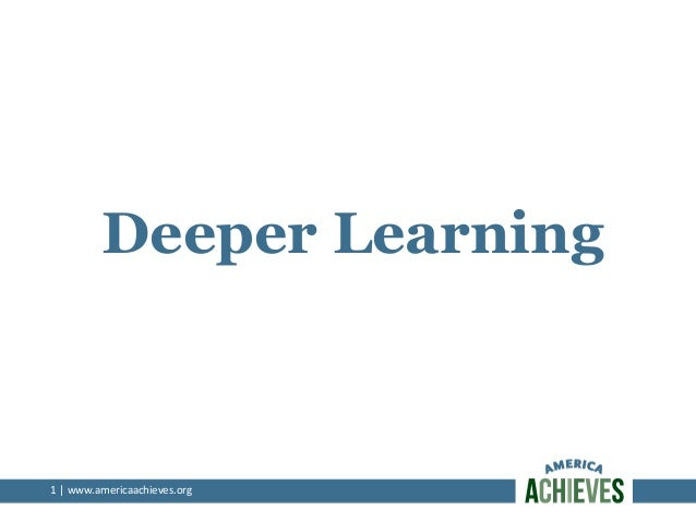 Assessing deeper learning