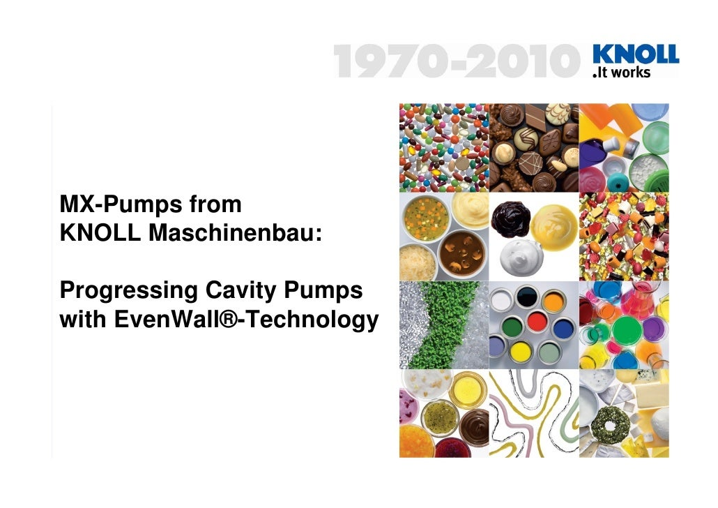 Progressing Cavity Pumps from KNOLL with EvenWall-Technology