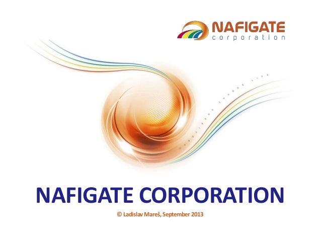 NAFIGATE CORPORATION © Ladislav Mareš, September 2013