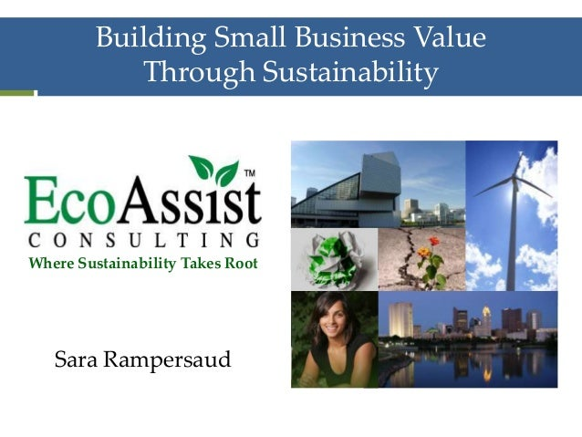 Building Small Business Value Through Sustainability Where Sustainability Takes Root Sara Rampersaud