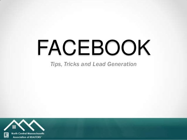 Presentation North Central MA Association of Realtors-   Facebook