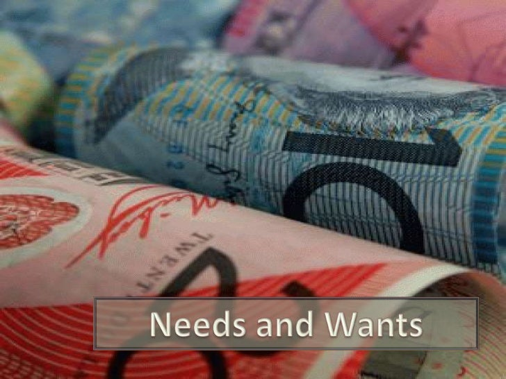 PowerPoint:  Money:  Needs and Wants