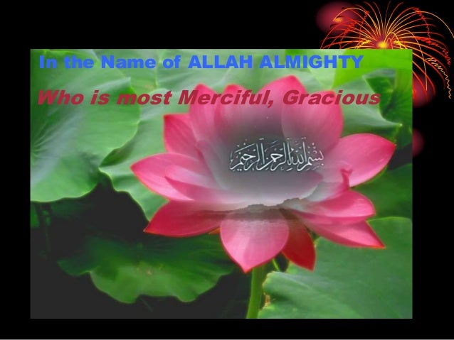 In the Name of ALLAH ALMIGHTY Who is most Merciful, Gracious