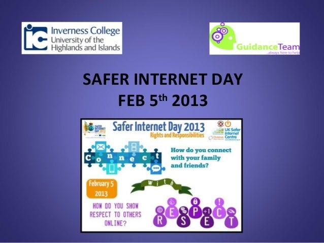 SAFER INTERNET DAY    FEB 5th 2013