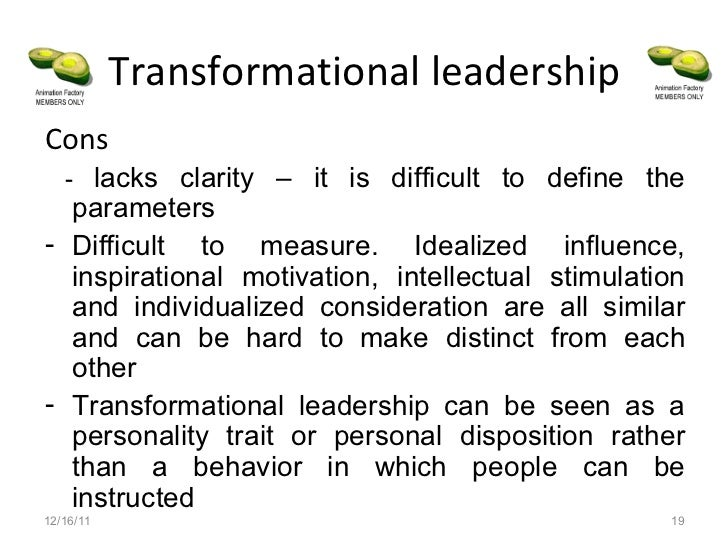 transformational leadership advantages and disadvantages Walden university scholarworks walden dissertations and doctoral studies 2015 advantages and barriers to transformational leadership implementation in a scientific.