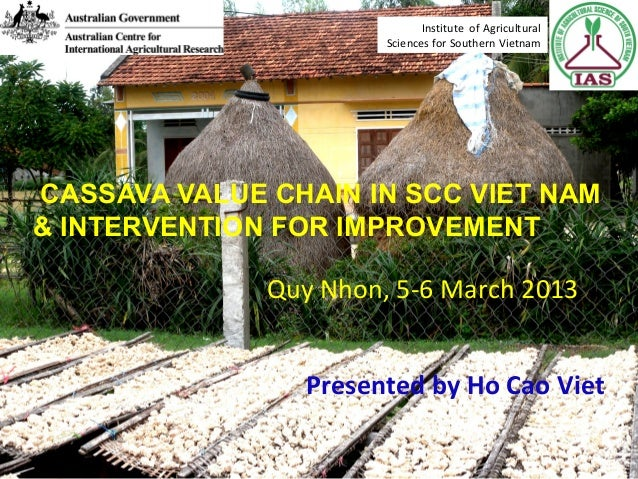 CASSAVA VALUE CHAIN IN SCC VIET NAM & INTERVENTION FOR IMPROVEMENT Presented by Ho Cao Viet Quy Nhon, 5-6 March 2013 Insti...