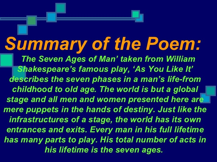 Seven Ages of Man Questions The Seven Ages of Man'