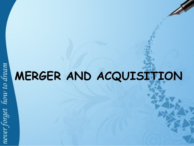 Merger and Acquisition in Banking Sector