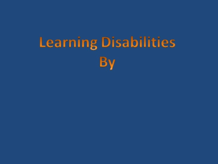 What is a good research paper for a learning disablility?