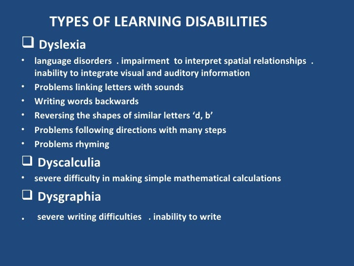 Type of Writing Disability?