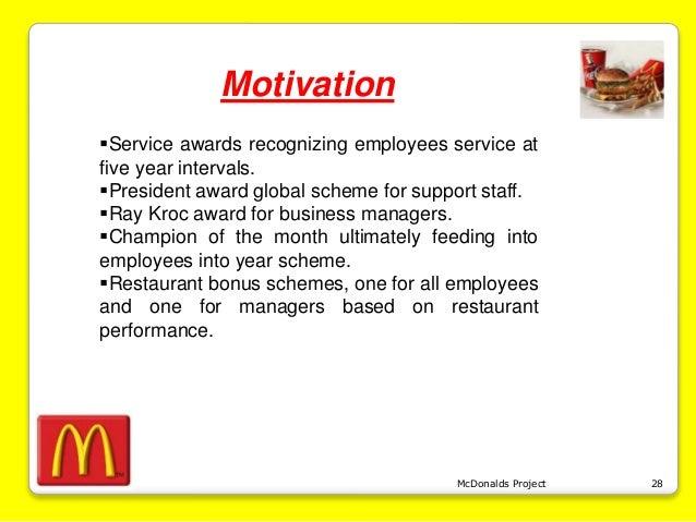 employee motivational factors in mcdonalds restaurant Employee performance evaluation template office employee performance self evaluation  employee motivational posters  what are the factors of employee.