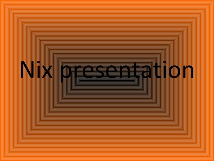 Presentation of me (Nick Price)
