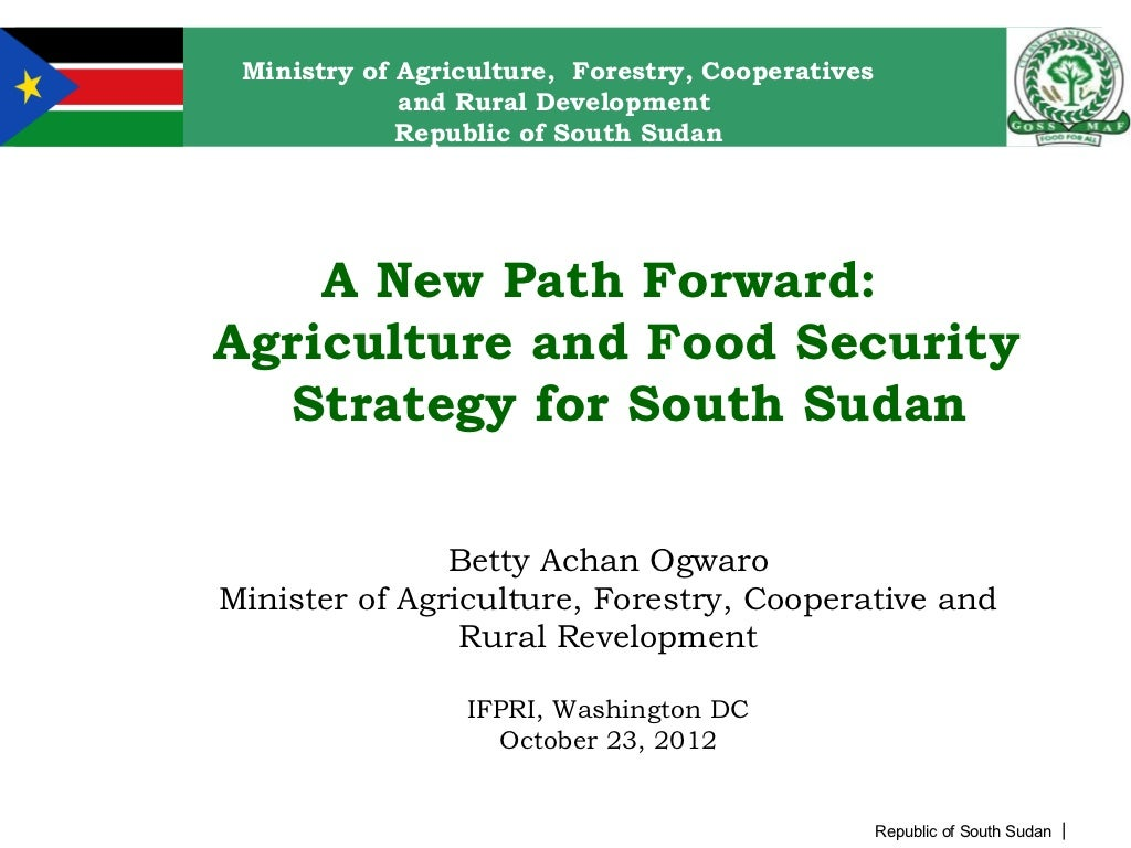 Path Forward: Agriculture and Food Security Strategy for South Sudan