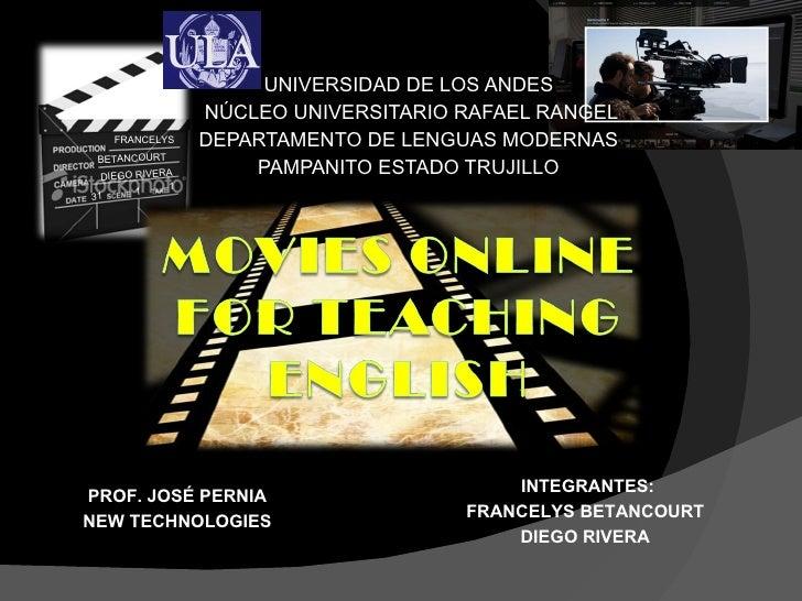 UNIVERSIDAD DE LOS ANDES  NÚCLEO UNIVERSITARIO RAFAEL RANGEL DEPARTAMENTO DE LENGUAS MODERNAS  PAMPANITO ESTADO TRUJILLO  ...