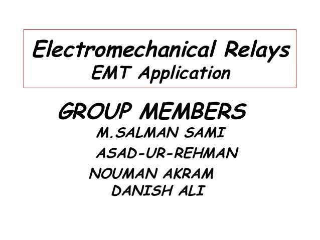 electromechanical relay