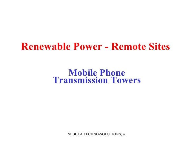 Presentation Of Ren Energy