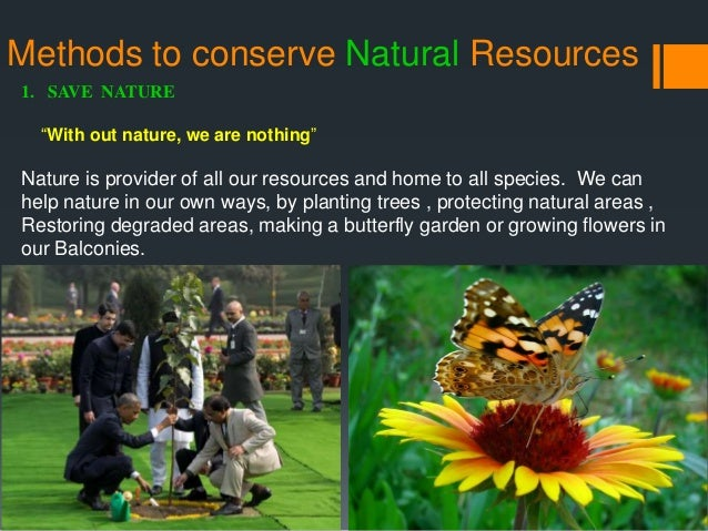 How Can People Conserve Natural Resources