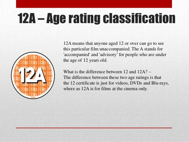 Age Rating 12a 12a – Age Rating