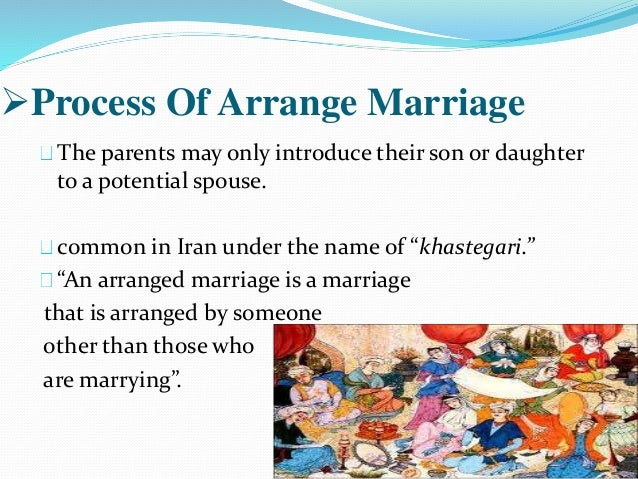 marriage should be arranged by parents essay