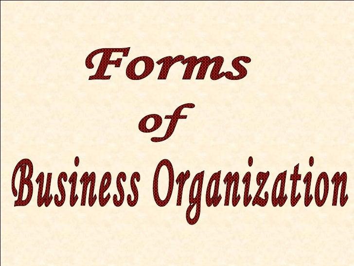 Presentation On Business Organization