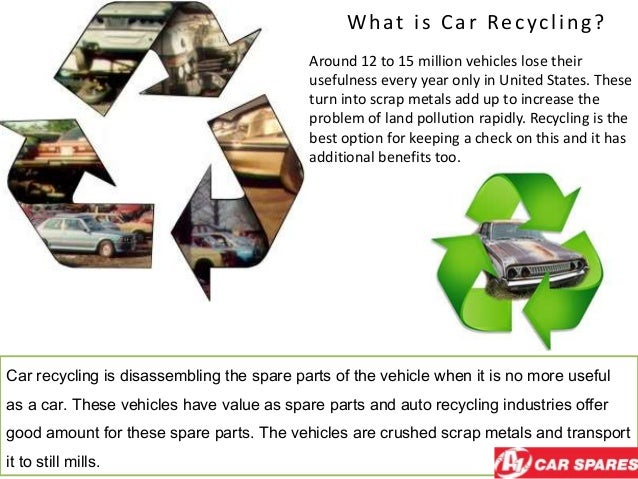 What is Car Recycling? Around 12 to 15 million vehicles lose their usefulness every year only in United States. These turn...