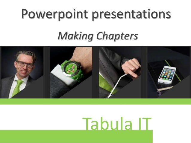 Presentation on chapters in ppt