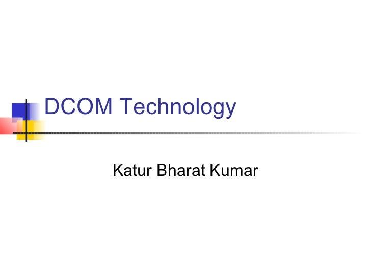 Presentation On Com Dcom