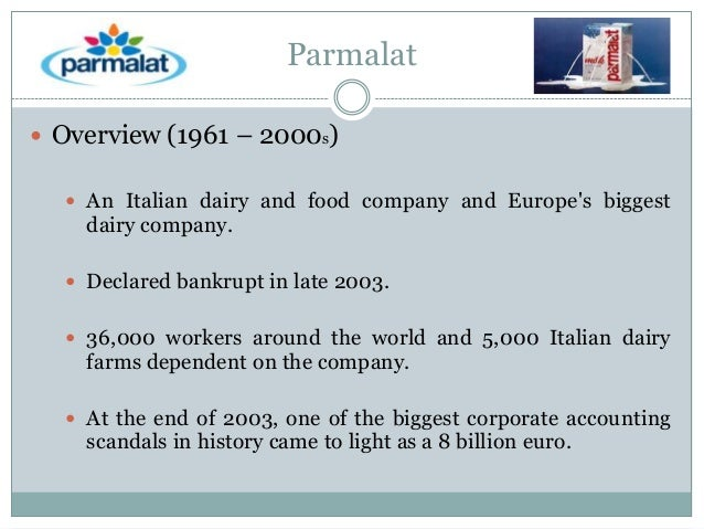 How Parmalat Differs From U.S. Scandals