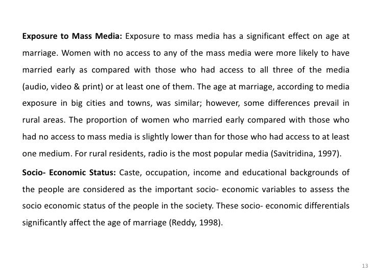 early age marriage essay