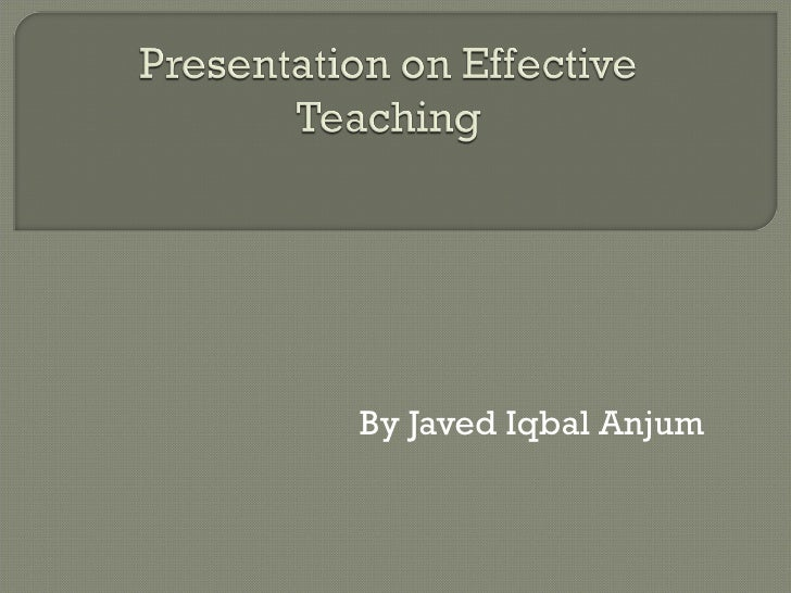 Presentation on teaching methods 5th